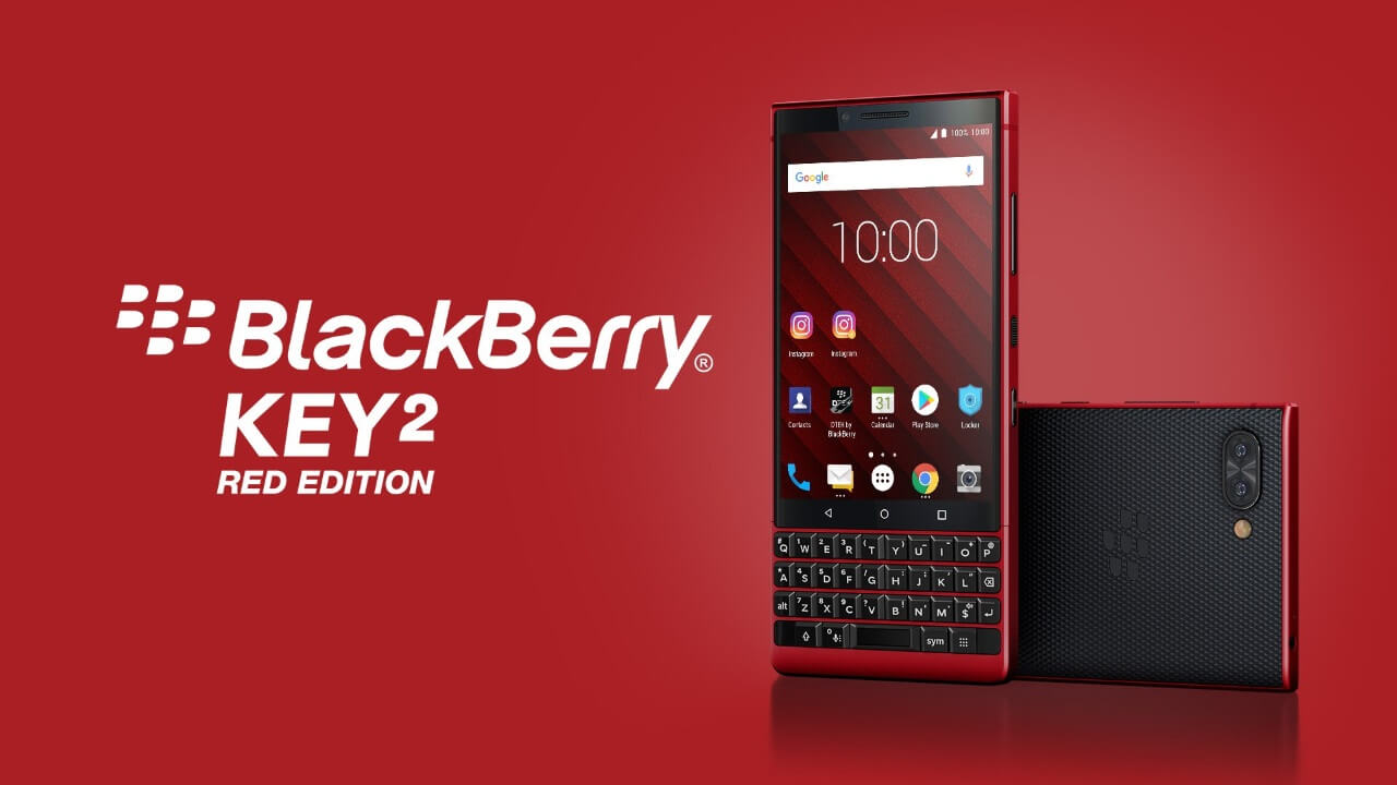 ebayに「BlackBerry KEY2 Red Edition」が登場、しかし高い