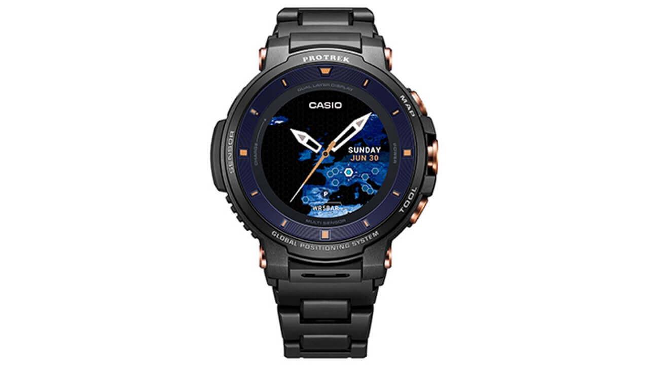 カシオ、サファイアガラス採用Wear OS「PRO TREK Smart  WSD-F30SC」発表