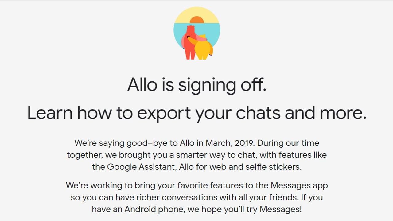 「Google Allo」提供終了