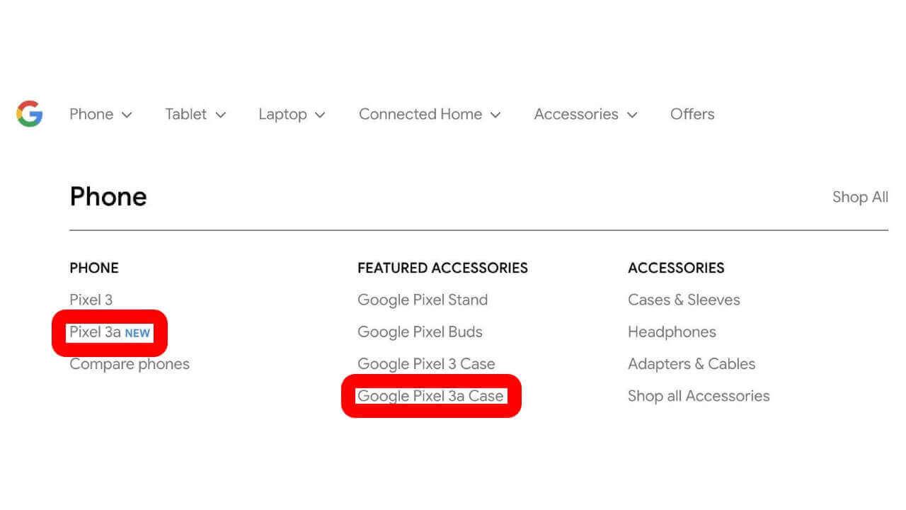 Googleストアに未発表「Pixel 3a」が一瞬登場