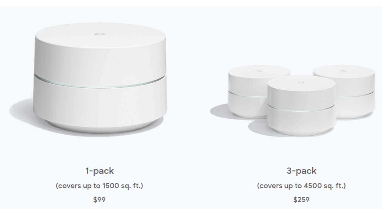 米国Googleストアで「Google Wifi」の基本価格が値下がり