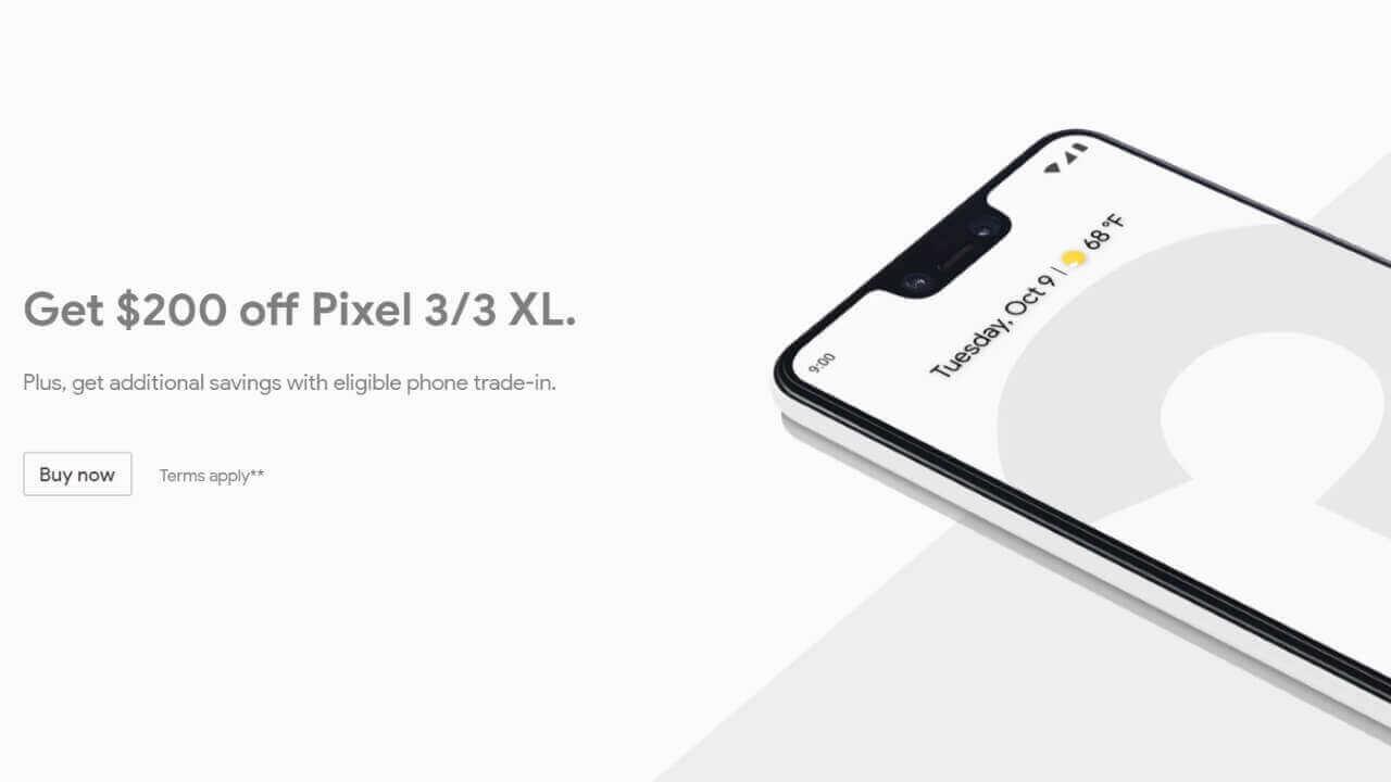 米Googleストアが「Pixel 3」を再度$200引きに、5月6日まで