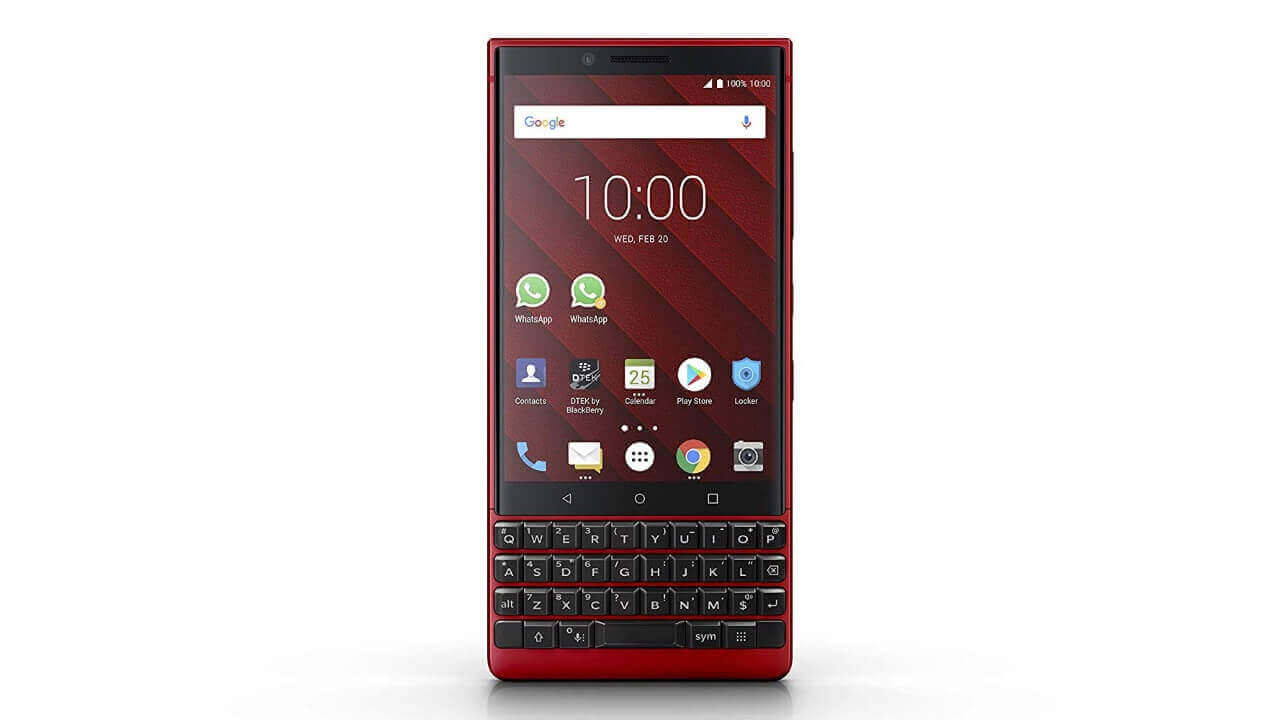 「BlackBerry KEY2 Red Edition」が伊Amazonから直輸入可能に!