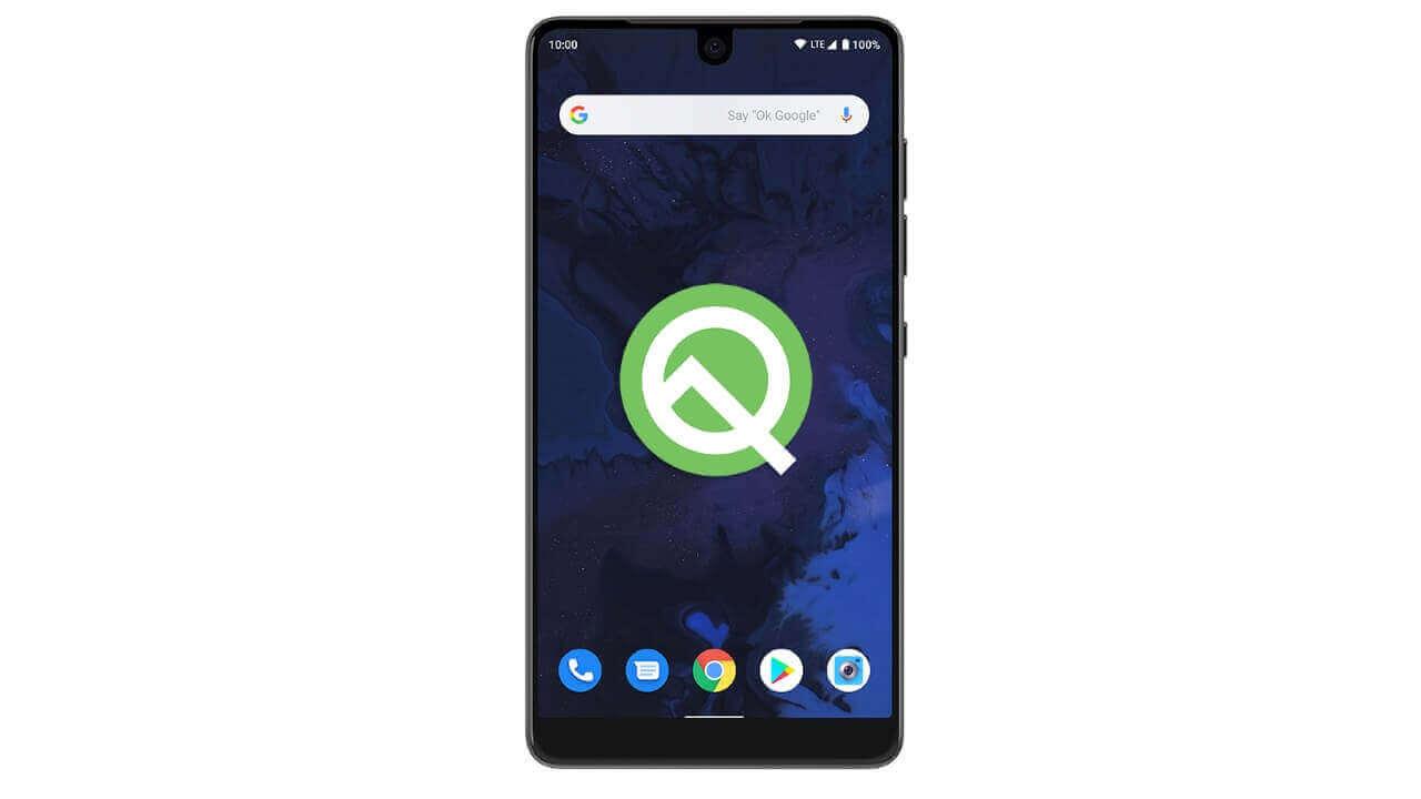「Essential Phone」用Android Q Betaが公開、手動適用可能に