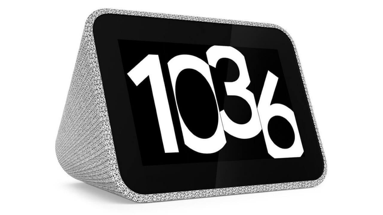 海外で「Lenovo Smart Clock」予約開始、6月発売予定