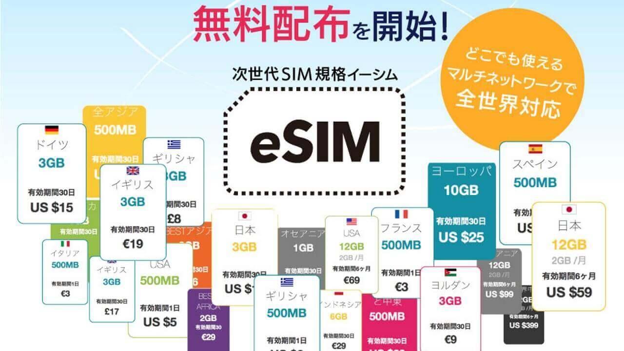 ORBIX、海外旅行で利用できる国内eSIMサービスを提供開始