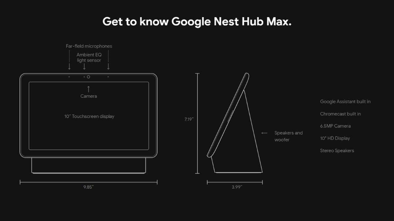 「Google Nest Hub Max」はIEEE 802.15.4をサポート