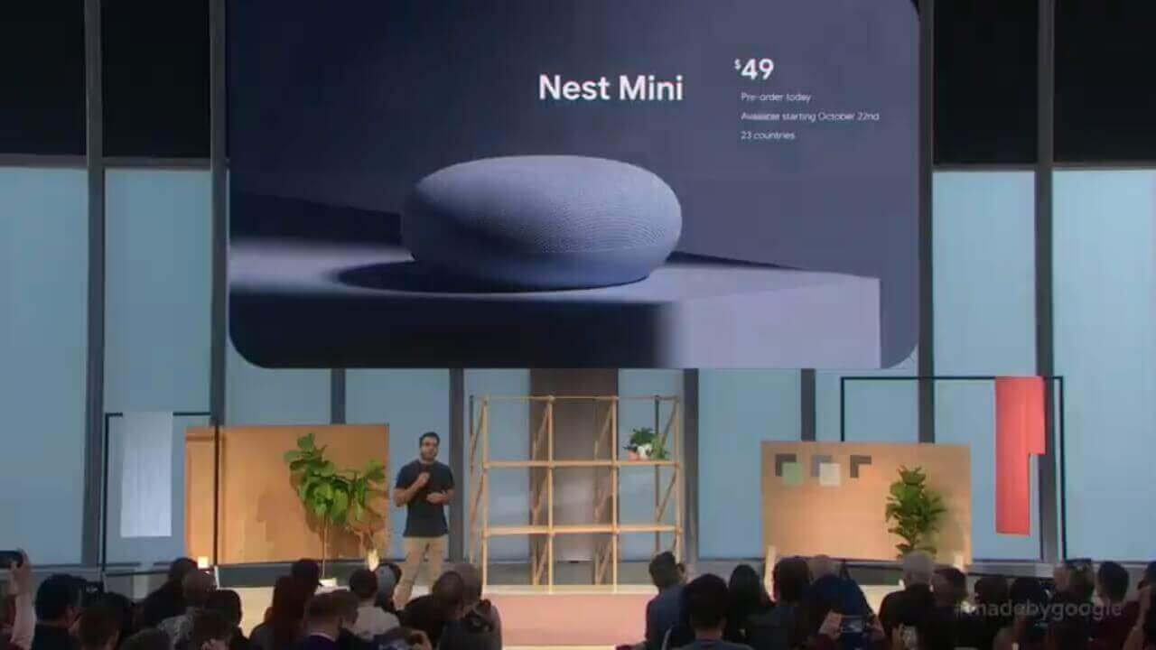 応答速度と低音が向上した「Nest Mini」正式発表