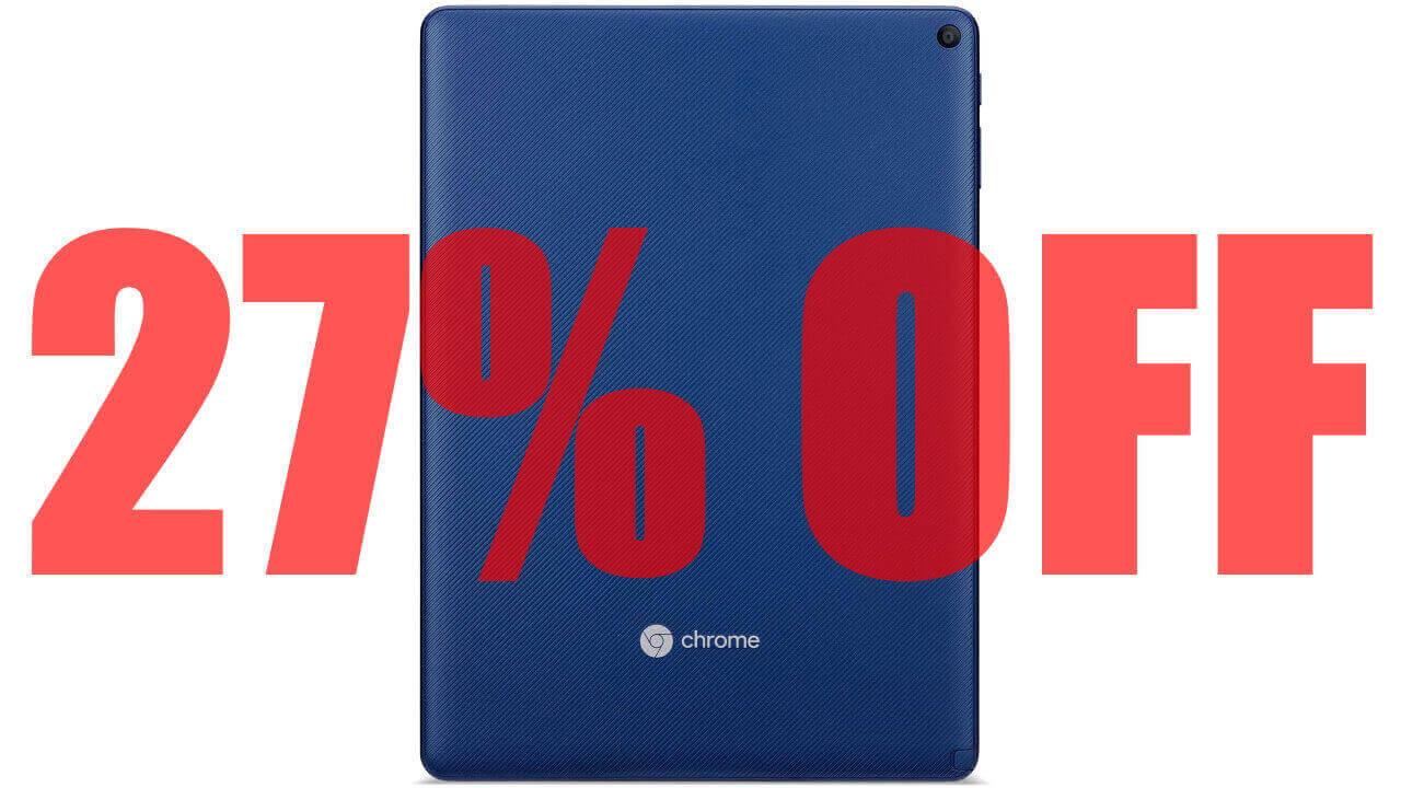 Amazonで国内版「Chromebook Tab 10」が27%引き