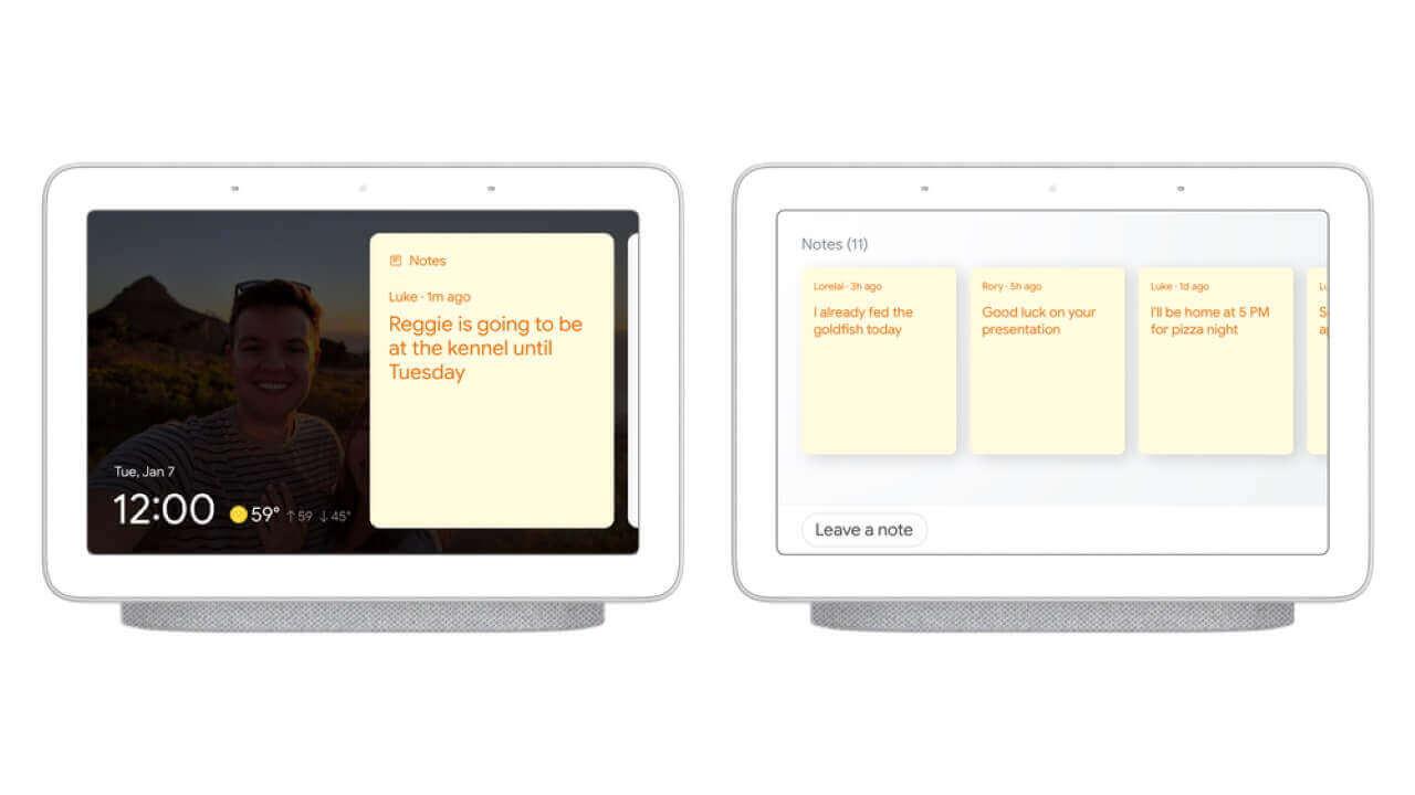 Googleスマートディスプレイにデジタルふせん機能提供へ