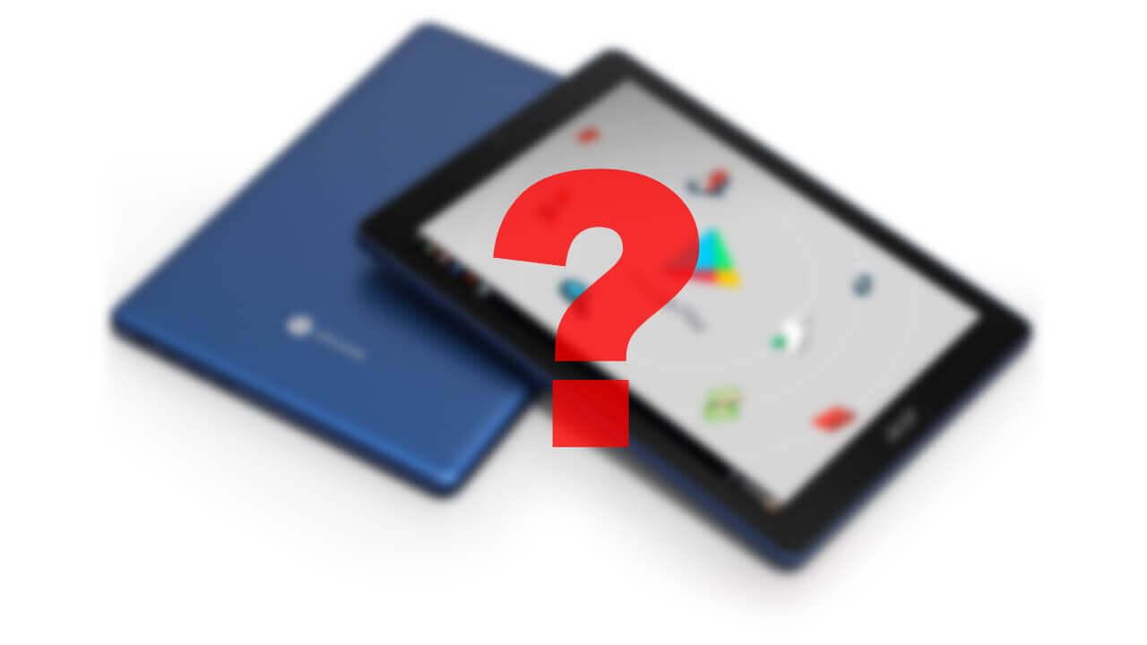 新型「Chromebook Tab 10」?がFCC認証取得、技適も搭載