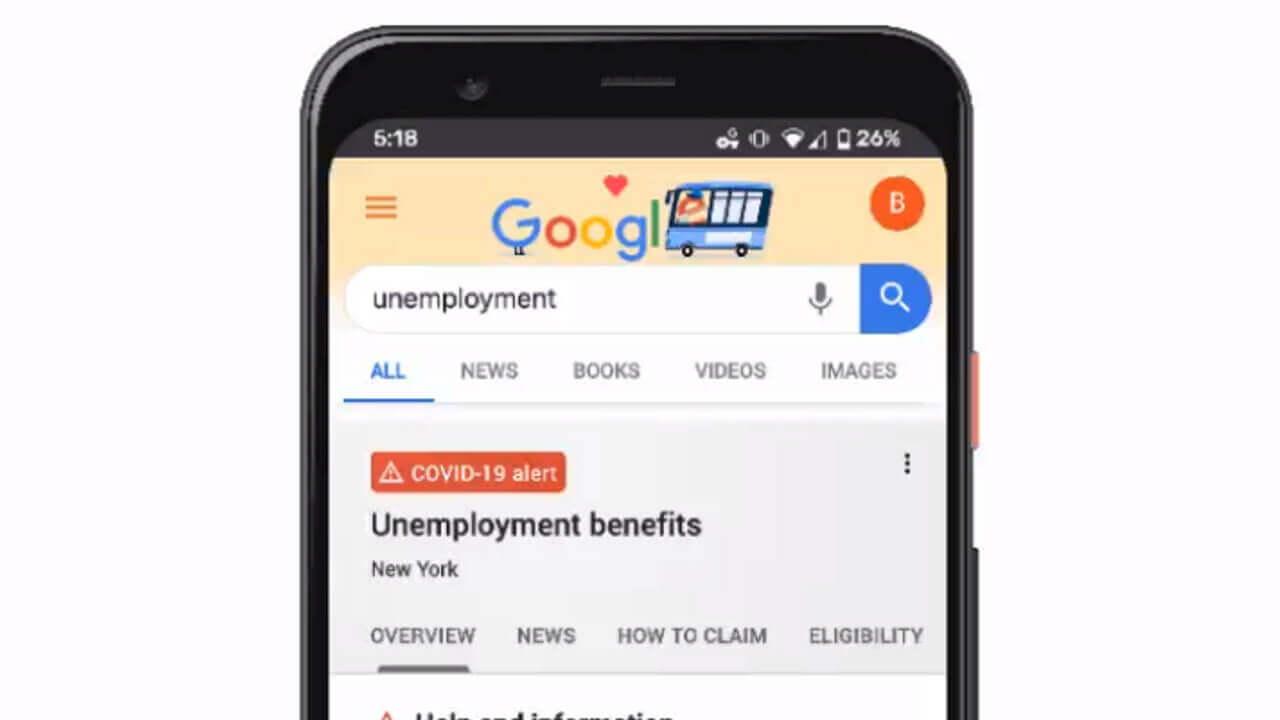 Google検索で「失業」を調べると給付に関する公式情報を表示へ【米国のみ】
