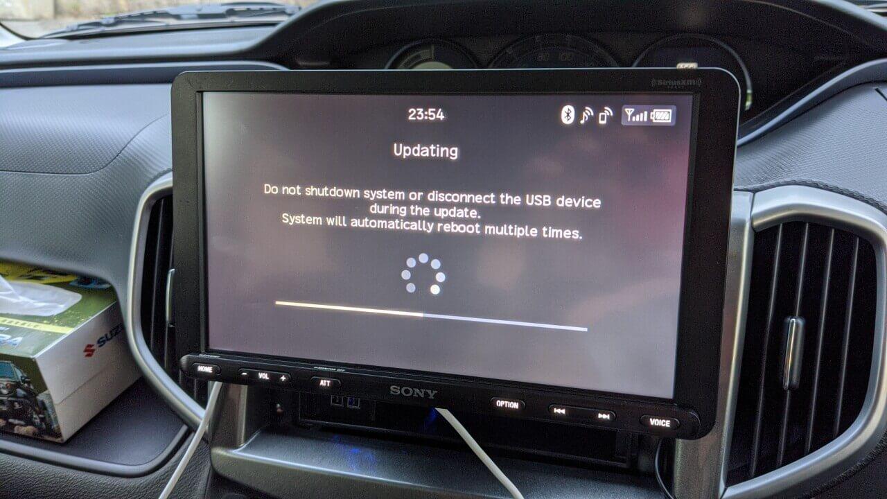 Android Auto「Sony XAV-AX8000」のファームウェアアップデートが面倒だった話