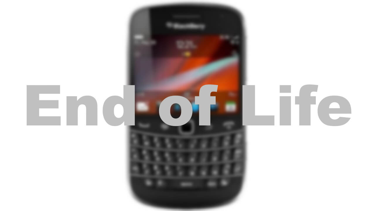 BlackBerry OSが2022年1月4日に完全終了へ【End of Life】