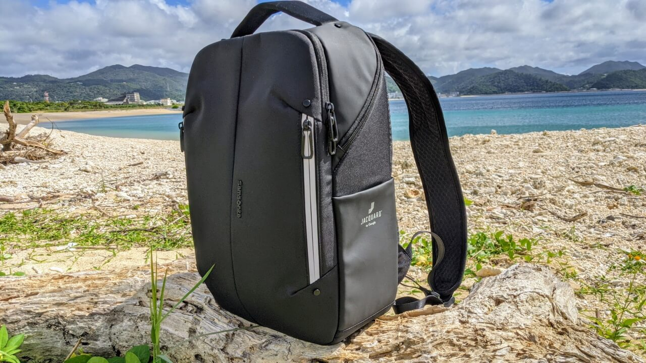 Google Jacquard「Samsonite Konnect-I Backpack(スリム)」レビュー