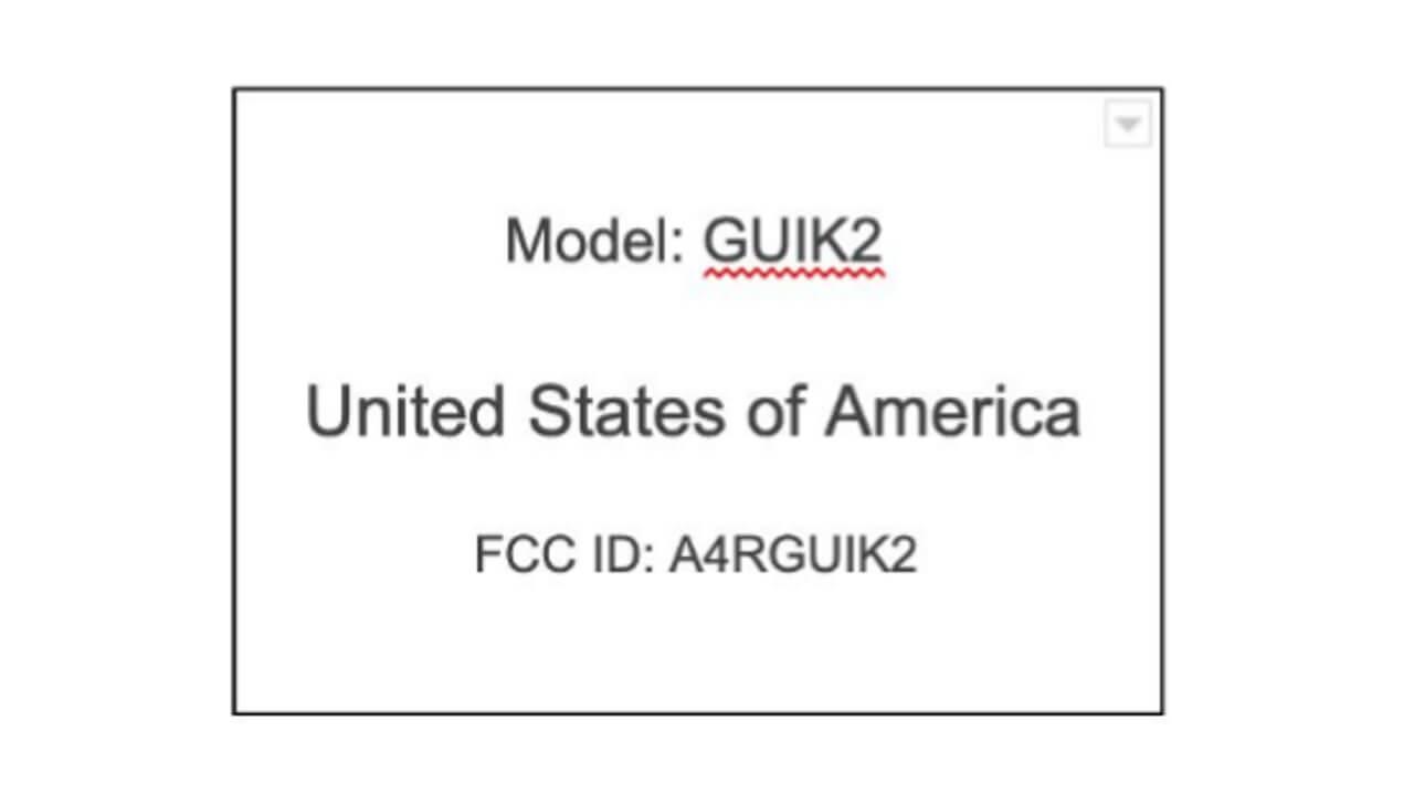 Soli対応!謎のGoogle製「GUIK2」FCC認証取得