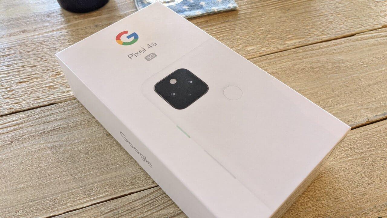 新色!「Pixel 4a(5G)」ホワイトが届きました