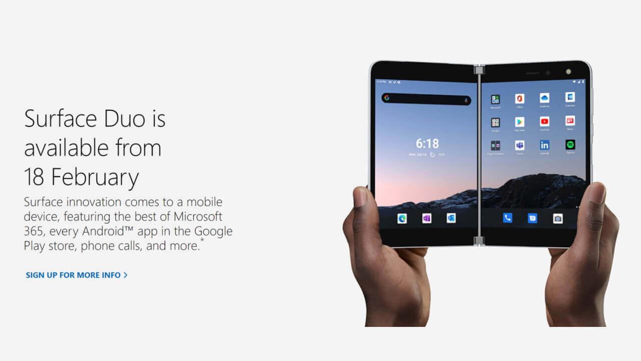 2月18日!「Surface Duo」いよいよ米国外で発売