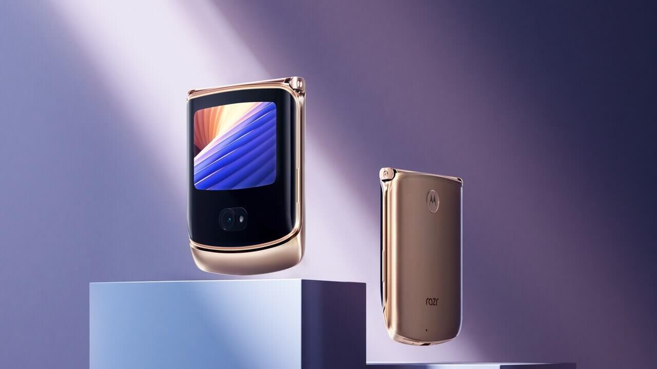 限定!国内SIMフリー「Motorola Razr 5G」ゴールド発売へ
