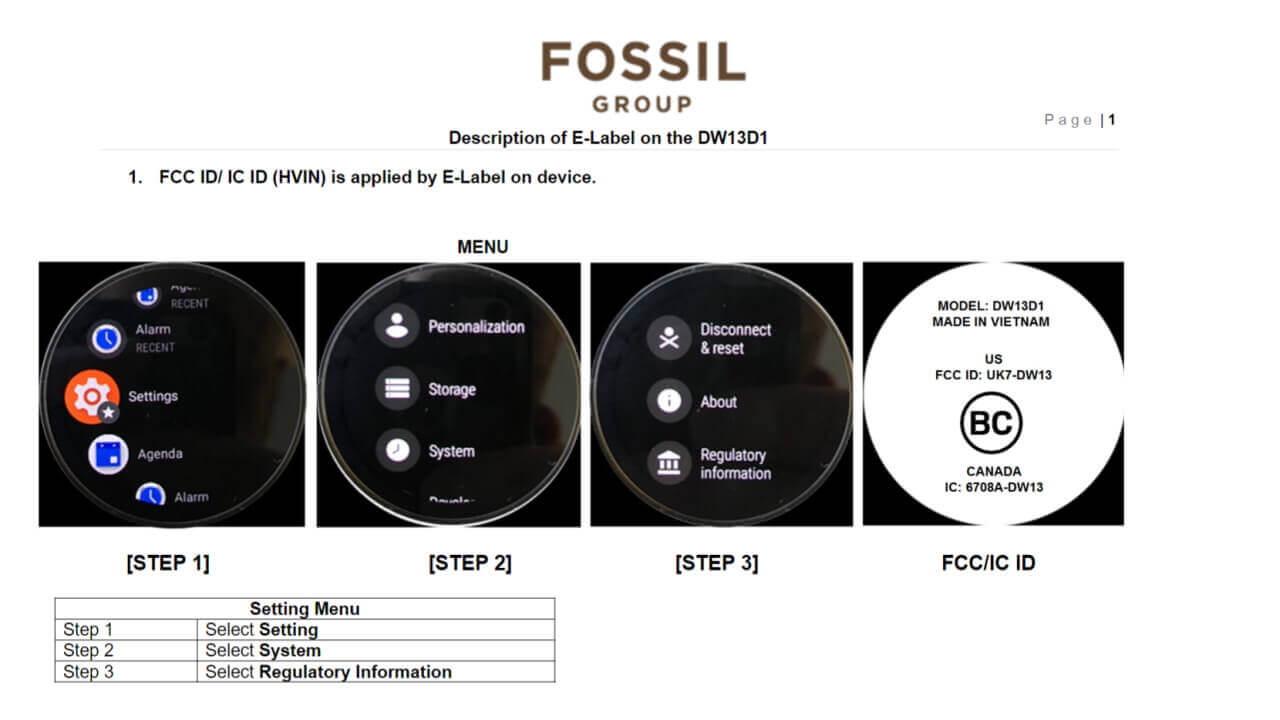 Diesel第6世代Wear OS?「DW13D1」FCC認証取得