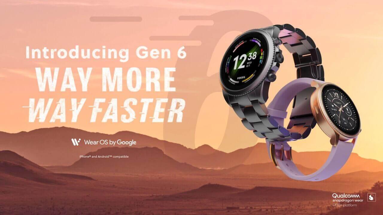 SDW4100+搭載!Fossil新型Wear OS「Gen 6」公式特設ページ登場