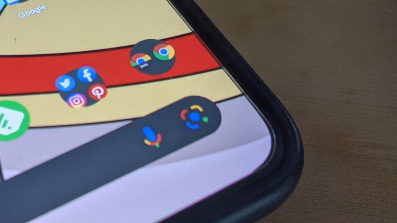 「Pixel Launcher」Google レンズショートカット追加