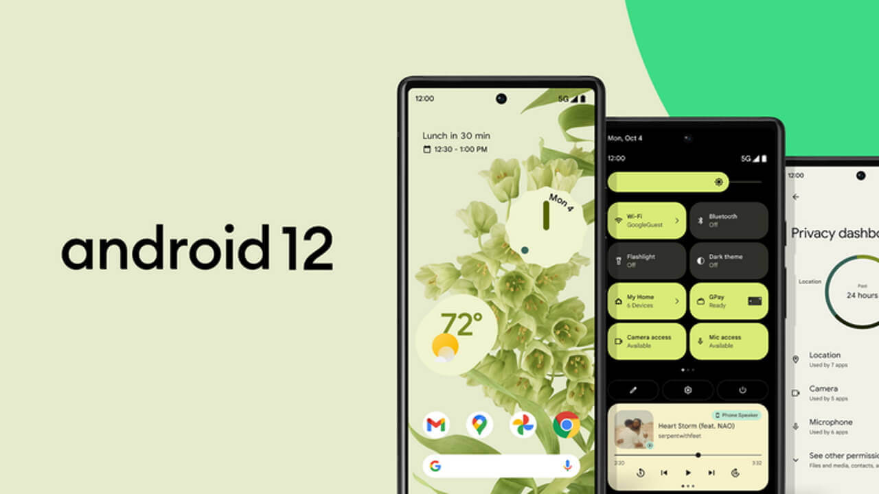 正式版「Android 12」Pixel先行リリース!