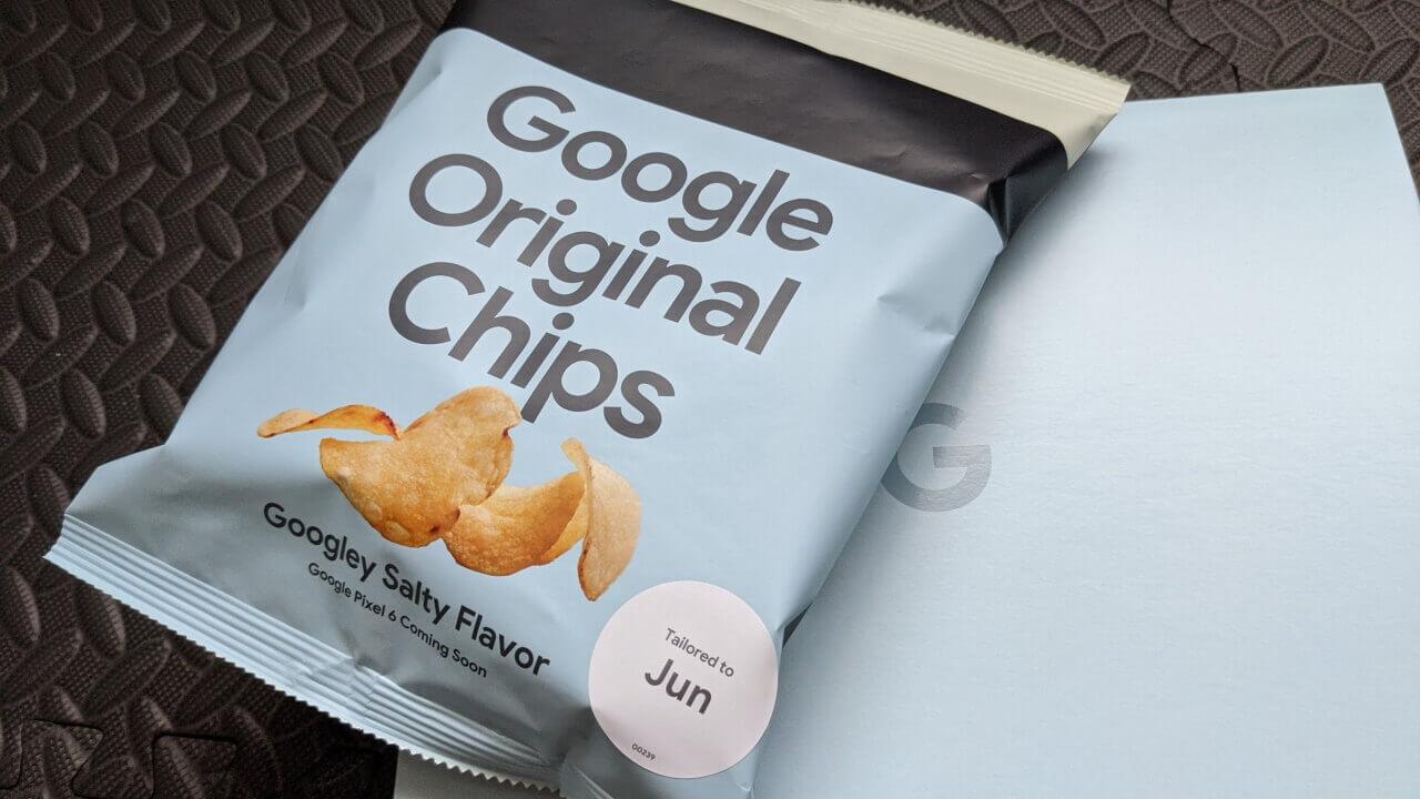 Pixel 6先着ポテチ!「Google Original Chips」が届きました